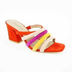Donald/Pliner Women's Wes Suede Sandals, Rose